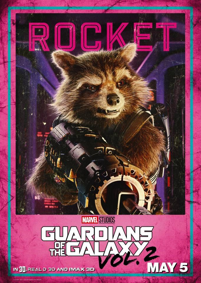 rocket gotg vol 2 poster